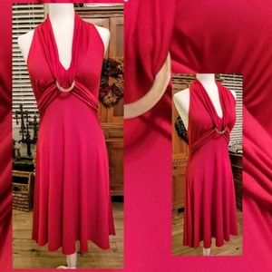 Beautiful Sleeveless Red Stretch Form Fitted Dress